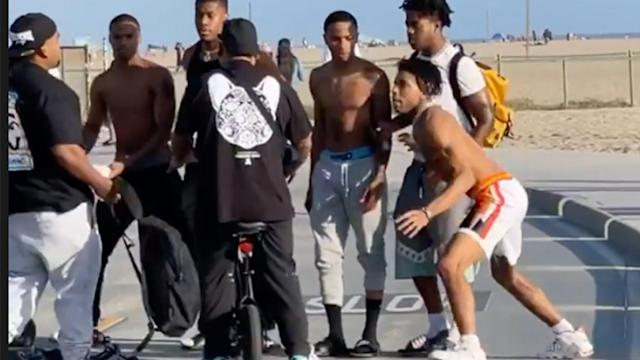 NLE Choppa And Crew Viral Fight Video